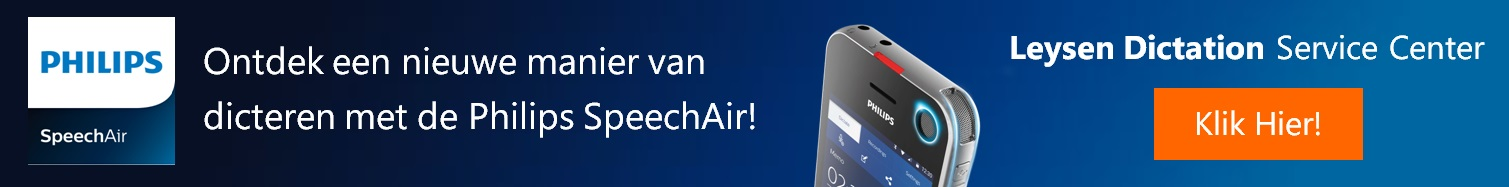 SpeechAir Banner Leysen Dictation